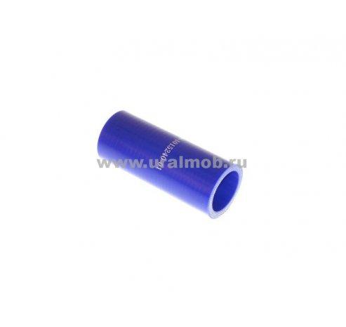 Фото: Патрубок КАМАЗ радиатора нижний Cummins (L90, d66) (Синий Силикон)