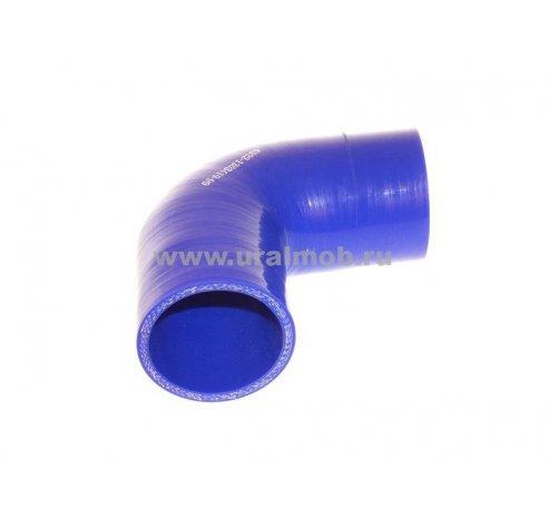 Фото: Патрубок КАМАЗ радиатора средний (L120, d70) (Синий Силикон), арт. 5320-1303027