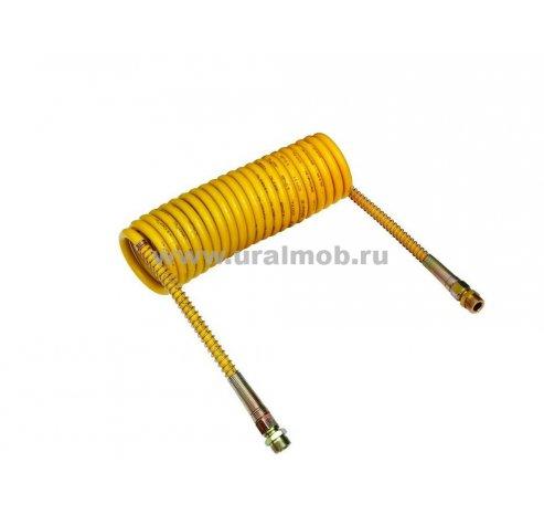Фото: Шланг пневматический КАМАЗ, МАЗ, УРАЛ (витой) М16 желтый (WABCO), арт. 4527110120