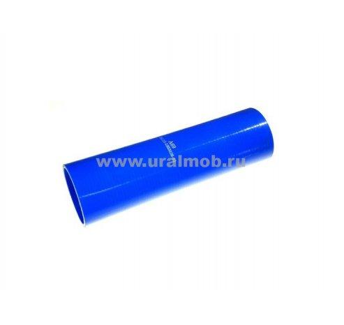 Фото: 5320-1303026 Патрубок КАМАЗ радиатора нижний (L200, d70) (Синий Силикон)