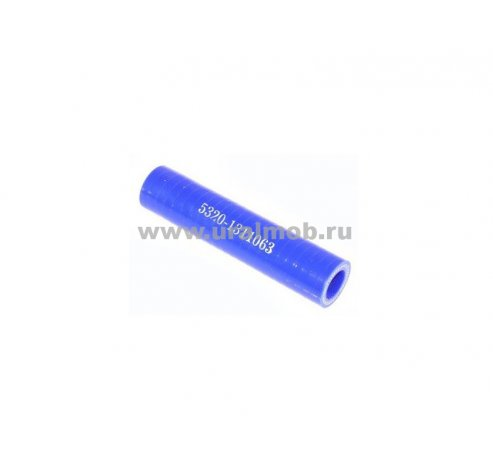 Фото: 5320-1311063-02 Патрубок КАМАЗ расширительного бачка (L85, d12) (Синий Силикон) _