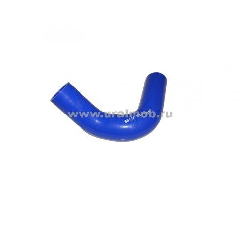 Фото: 65115-1311049 Патрубок КАМАЗ расширительного бачка (S-образный) (Синий Силикон)