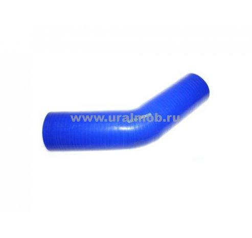 Фото: 65115-1303026 Патрубок КАМАЗ радиатора нижний (L145/145, d60) (Синий Силикон) (ан. 4320-1303010)