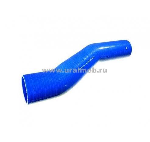 Фото: 65115-1303010-28 Патрубок КАМАЗ радиатора верхний (S образный) (L290, d43/58) (Синий Силикон) _