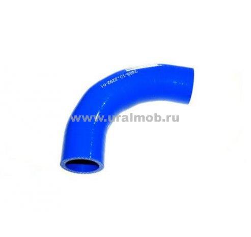Фото: 7405-1013292-01 Патрубок КАМАЗ угловой теплообменника (L135, d31) (Синий Силикон)
