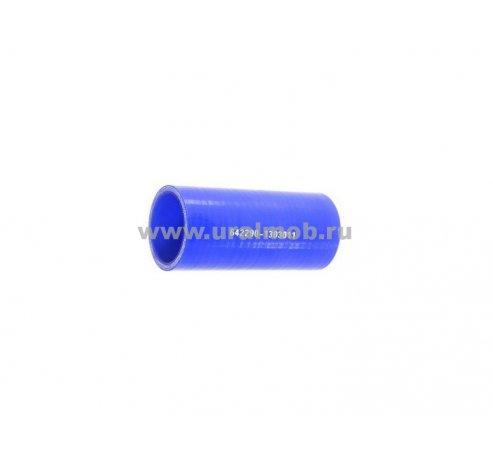 Фото: 642290-1303011 Патрубок МАЗ радиатора верхний (L110, d42) (Синий Силикон) _