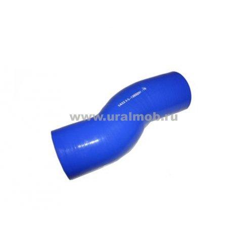Фото: 5432А5-1303260-10 Патрубок МАЗ радиатора нижний (S-образный L225) (Синий Силикон) _
