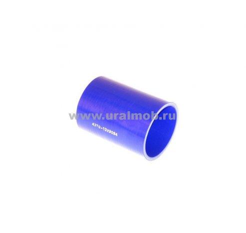 Фото: 4370-1323094 Патрубок МАЗ интеркулера (L105, d70) (Синий Силикон) _