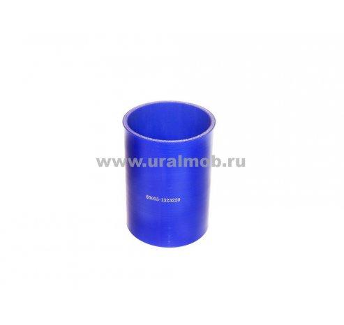 Фото: 65055-1323220 Патрубок КРАЗ интеркулера (L116, d90) (Синий Силикон)