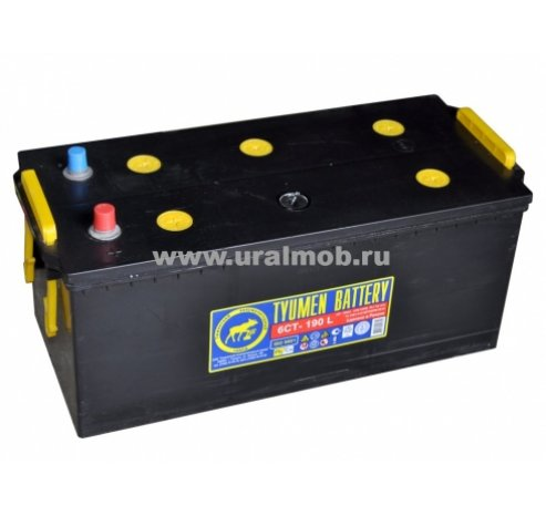 Фото: 6СТ 190 АПЗ (клеммы под болты) Аккумуляторная батарея ТЮМЕНЬ (УРАЛ, КАМАЗ) (залитый, заряженный)