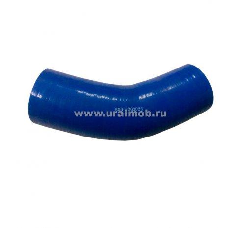 Фото: 500-1303025 Патрубок МАЗ радиатора нижний (L220, d60) (3 слоя, 4мм) (Синий Силикон) _