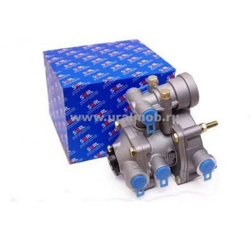 Фото: 3522 002 022 0 Клапан управления тормозами прицепа с 2х-провод. приводом с клапаном обрыва (ан 25-3522210) SORL