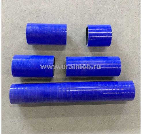 Фото: 536-1303010 КТ К-т патрубков радиатора УРАЛ-NEXT, Бескапотник дв. ЯМЗ-536 (из 5 штук) (Синий Силикон)